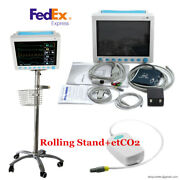 Contec Cms8000 Vital Sign Icu Patient Monitor+capnograph Co2+trolley Stand/cart