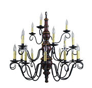 Elderand039s 3-tier Wooden Chandelier By Katieand039s - Colonial Primitive Country - New