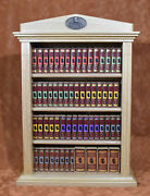 Miniature Book The Complete Sherlock Holmes Wooden Bookshelf With All 60 Vol.