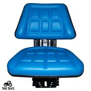 Blue Ford / New Holland 5100 Triback Universal Tractor Suspension Seat