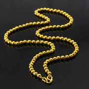 Gold Ball Beads Chain Ladies Girls Necklace Unique Stylish Chain Beads Necklace