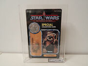 Clear Unpunched Kenner Star Wars Ukg 85 Potf Wicket High 90 Subgrades Like Afa