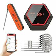Inkbird Cooking Thermometer Bluetooth 6-probe + Instant Fast Read Thermometer 1p