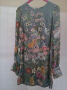 Original, Classic And Elegant Floral Silk Dress Size Small Petite. Never Been Worn