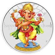 2018 Tuvalu Diwali Festival 1oz .9999 Silver 1 Coin Previous-issue-sold-out