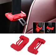 2x Car Truck Safety Seat Belt Buckle Protective Cover Silica Anti-scratch Case F