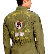 Polo Olive Military Combat Field Jacket Guam 5th Squadron 395+