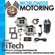 Go Efi 2andtimes4 + G-surge Tank Master Kit 33061 By Fitech