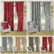 Top Quality Ready-made Ring Top Heavy Crushed Velour Bellini Curtains And Tieback