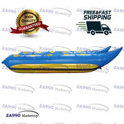 26x6.6ft Inflatable Banana Boat 10 Passenger Water Games Sled With Air Pump