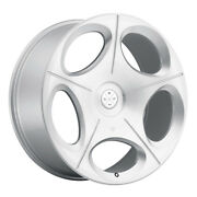 20 Blaque Diamond Bd77 Silver Concave Wheels Rims Fits Ford Mustang Gt
