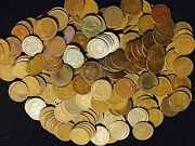 1 Roll 50 Coins Mixed Indian Head Cent Pennies In Average Circ 1800and039s / 1900and039s