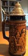 Vintage Beer Stein Gerz West Germany Label Base 9 1/2andrdquo Beautiful Conditio