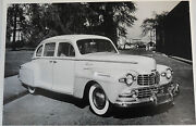 1947 Lincoln 4 Door Sedan 12 X 18 Black And White Picture