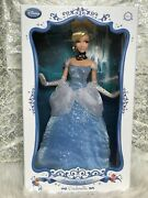 Disney Store Limited Edition Cinderella 17 Doll New Blue Dress Collectible