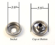 Snap Cap And Socket Marine Grade Stainless Steel Fasnap Brand