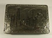D. B. F. Vintage Collectible Silver Tin Belgium Town Buildings 1960's