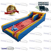 33x10ft Inflatable Bungee Run And Jousting Sticks Sport Game With Air Blower
