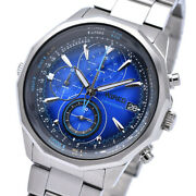 Wired Watch The Blue Chronograph Quartz Hard Rex 10 Atm Water Resistant Agaw43