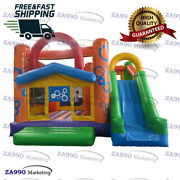 16x13ft Commercial Inflatable Bounce House And Slide Bouncy Combo With Air Blower