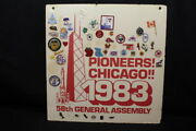 Mixed Souvenir Patches Board Pioneers Chicago 1983 58th General Assembly