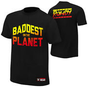 Official Wwe - Ronda Rousey Baddest On The Planet Authentic T-shirt