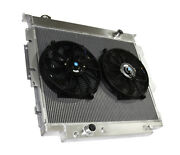 3 Row Performance Radiator+14 Fan For 83-94 Ford F-250 F-350 Diesel V8 Mt Only