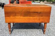 Vintage Antique Handmade Wooden Table With Fold Down Sides Early 1900's