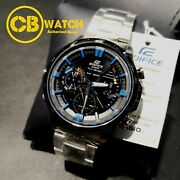 Era-300db-1a2 Casio Edifice Black Twin Sensor Mens Watch Era300