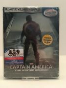 Captain America The Winter Soldier Blu-ray Disc, 3d With Protective Cover