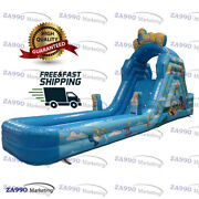 26x6.6ft Inflatable The Simpsons Slide And Pool Water Bouncy With Air Blower