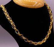 22 K Gold Cable Chain Link Chain Unisex Men Women New Special Jewelry For Gift