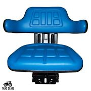 Blue Ford / New Holland 7100 7200 7700 Waffle Style Tractor Suspension Seat