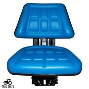 Blue Ford / New Holland 7100 7200 7700 Triback Style Tractor Suspension Seat
