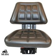 Black Trac Seats Tractor Suspension Seat Fits Ford / New Holland 7100 7200 7700