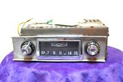 Old Chevy Tube Chevrolet Gm Delco Radio1958 Model 987724 With Bezel Knobs Usa