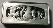 1974 Christmas Franklin Mint Silver Bar 2.29 Ounce Of Sterling Silver