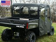 Doors And Rear Window For Polaris Crew - Soft Material - Vinyl Windshield
