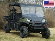 Vinyl Windshield And Roof Combo For Polaris Crew - Soft Top - Commercial