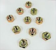 10 New Bobcat Replacement Carriage Bolt Lock Nuts 87d10 For Snow Plow Blades