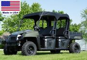 Roof For Polaris Ranger Crew - Canopy - Soft Top - Marine Textile - Commercial