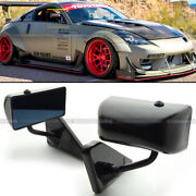 For 03-06 G35 2/4dr F1 Style Manual Adjustable Black Finish Side View Mirror