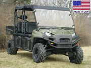 Hard Windshield And Roof For Polaris Crew - Soft Top - Travels Highway Speeds