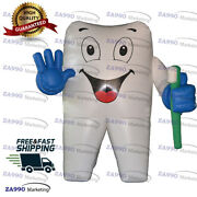 10ft Inflatable Dental Tooth Cartoon And Toothbrush Advertising With Air Blower