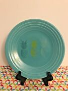 Fiestaware Pineapple Trio Lunch Plate Turquoise Fiesta Exclusive 9 In Luncheon