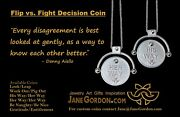 New Decision Coin Pendant Necklace His Way/ Her Way Sterling Silver And Diamond