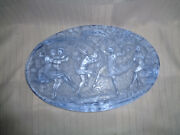 Fabulous Heinrich Hoffmann Cast Glass Plaque With Nudes / Nymphs, Germany