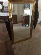 Vintage 1972 Chapman Beveled Solid Brass Mirror 32 X 54 Large And Beautiful