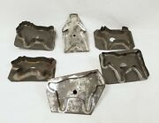 Antique Tin Cookie Cutter Lot Dog Man Horse Lion And Others Lot A