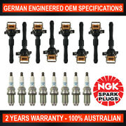 8x Ngk Platinum Spark Plugs And 8x Ignition Coils For Bmw X5 535i 540i 735i M5